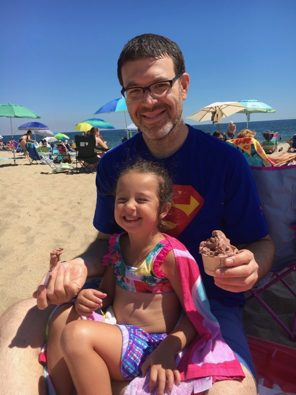 Avi and daughter at the beach with ice cream, summer 2016.jpg